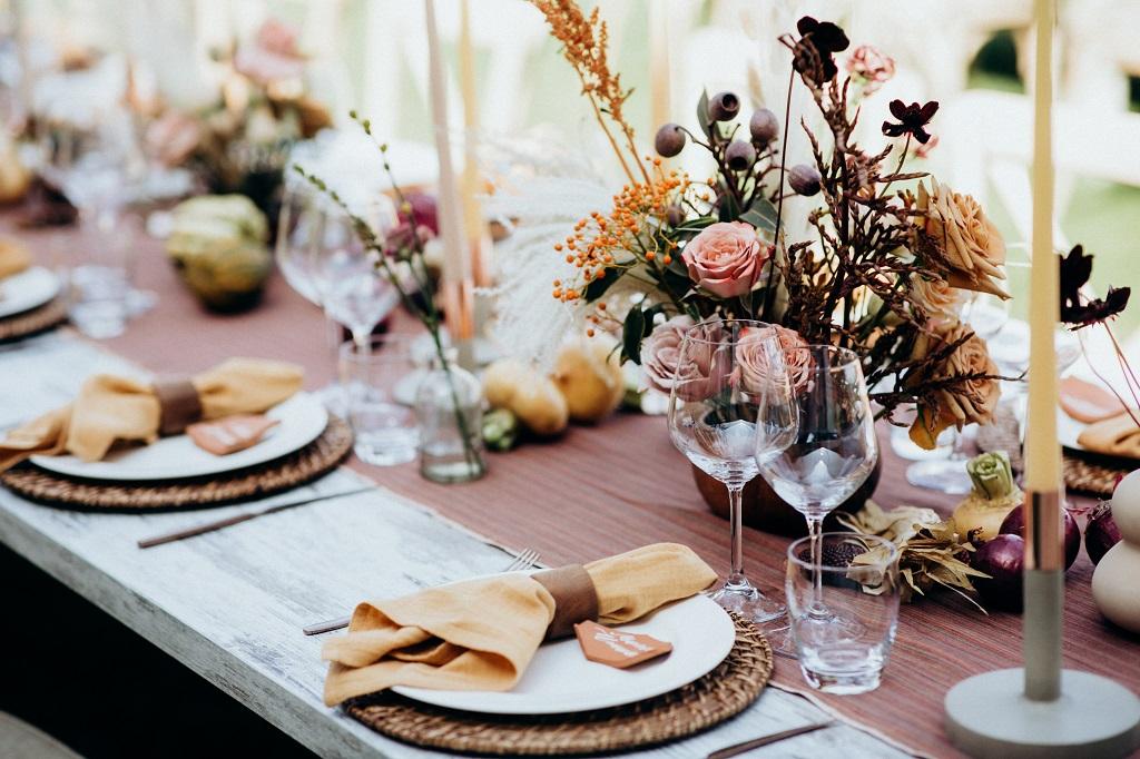 tavola informale senza tovaglia